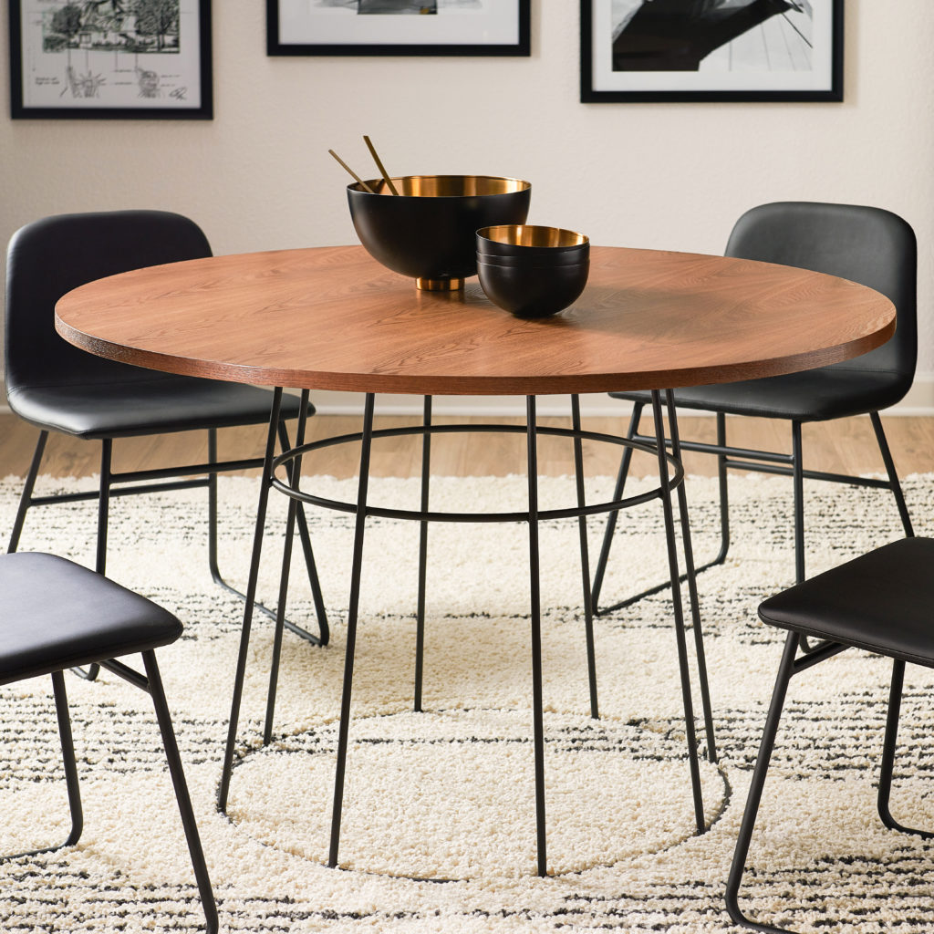 MoDRN Industrial Griffin Round Dining Table $379.00