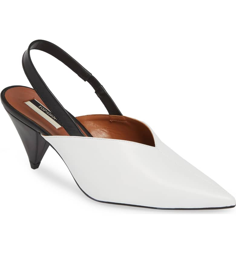 Slingback Pointy Toe Pump TOPSHOP $115.00