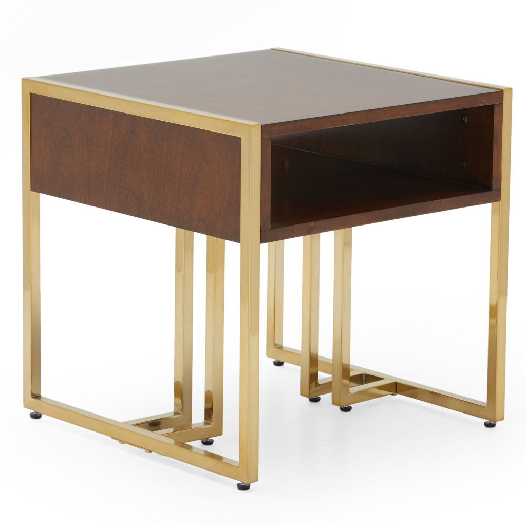 MoDRN Glam Marion Sleigh Base End Table $199.00