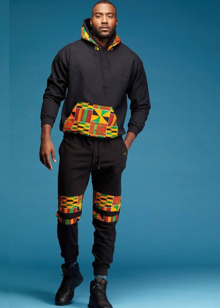 Kojo Men's African Print Double Stripe Joggers  $54.99