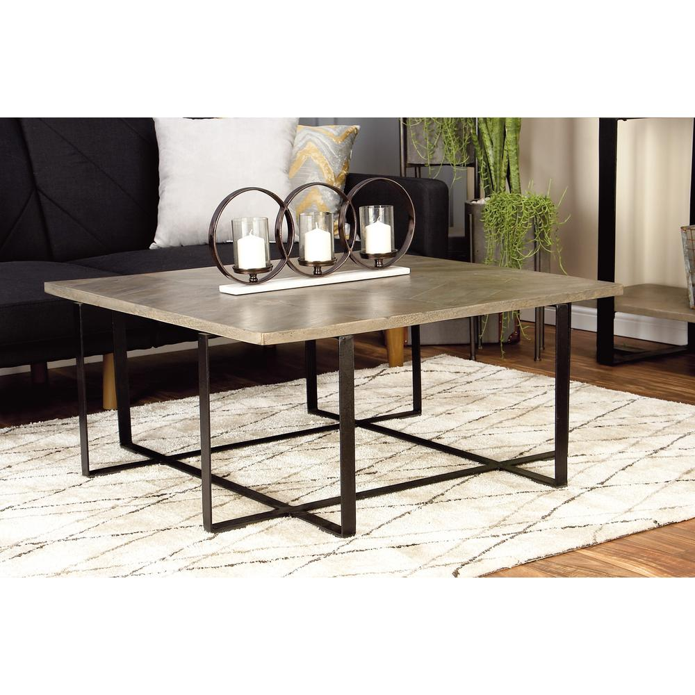 Light Brown and Black Chevron-Patterned Coffee Table $1180.80