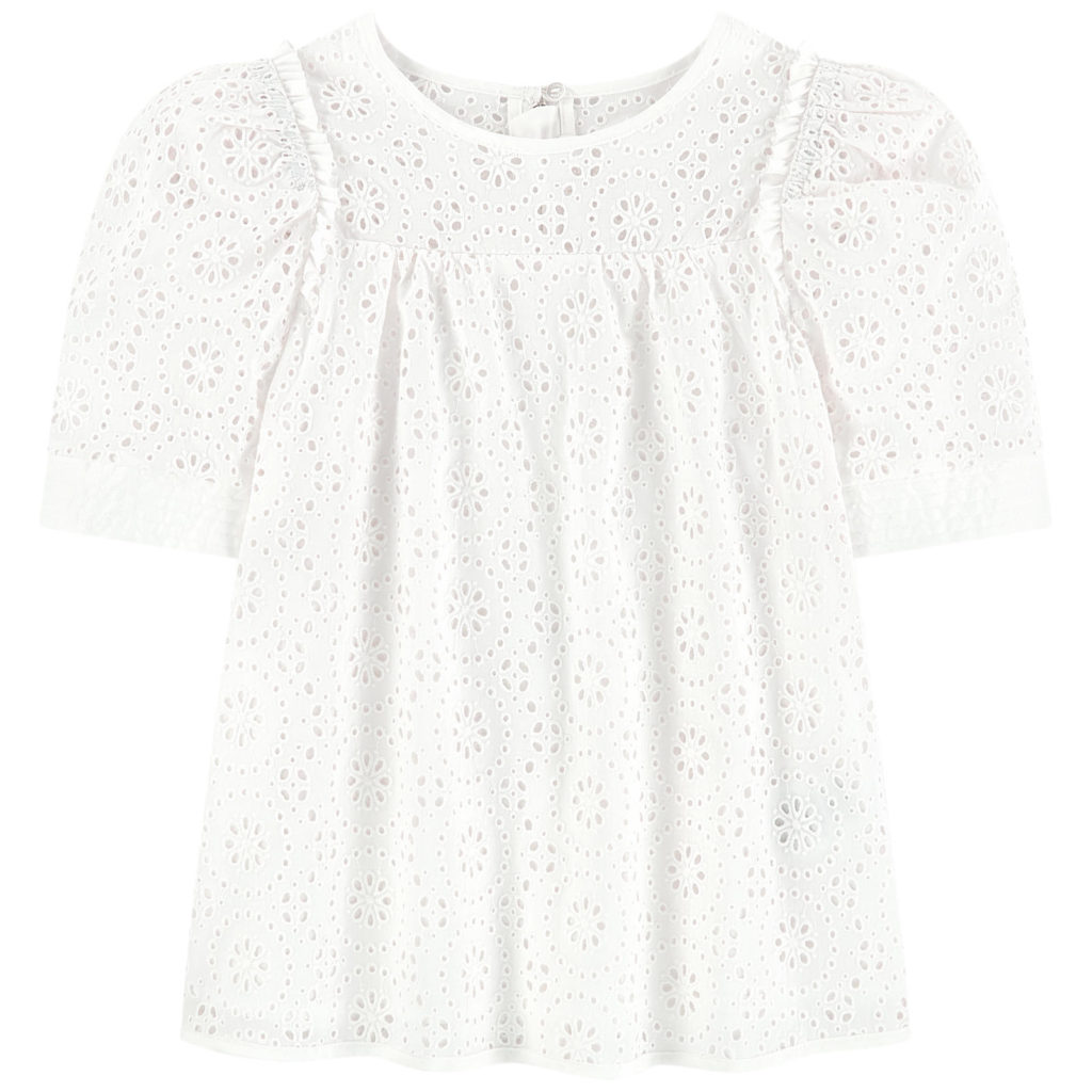 CHLOÉ Mini Me broderie anglaise lace blouse $295