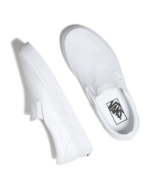 VANS CLASSIC SLIP-ON IN WHITE $50.00