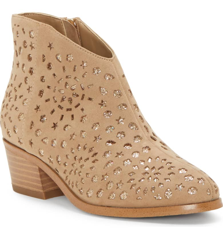 Perforated Glitter Boot VINCE CAMUTO $65.00