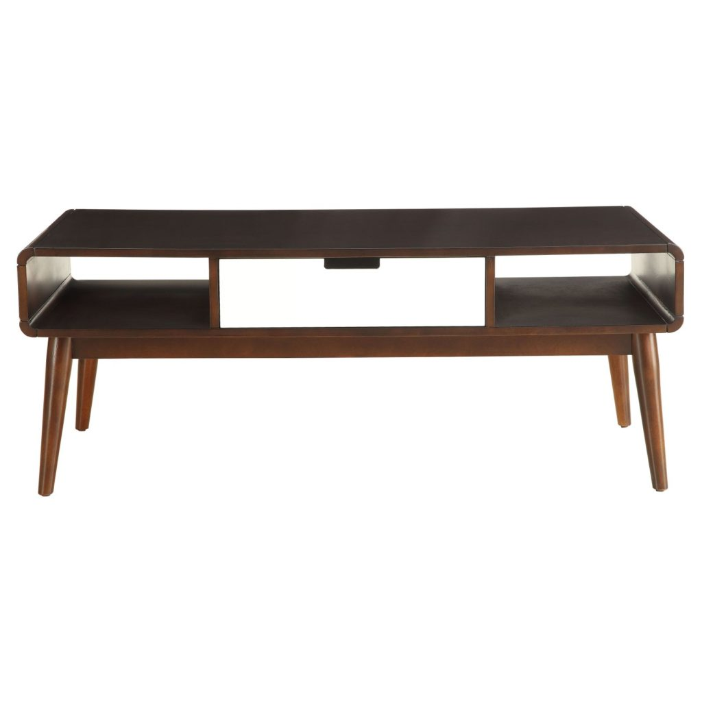 ACME Christa Coffee Table, Walnut and White $194.99