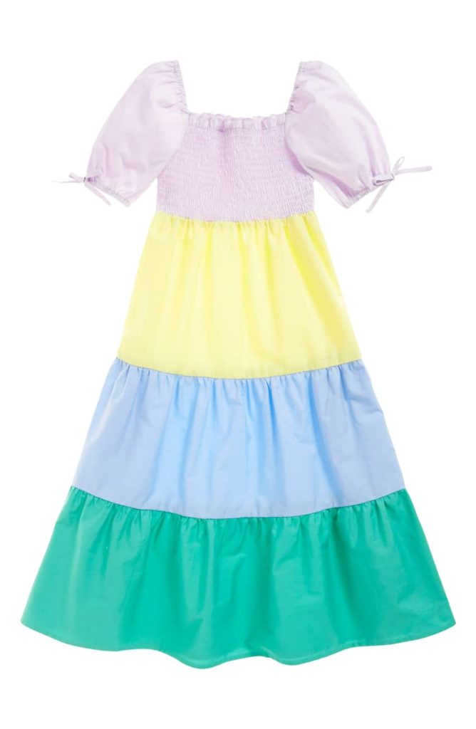 Rainbow Smocked Maxi Dress SEED HERITAGE $45.00