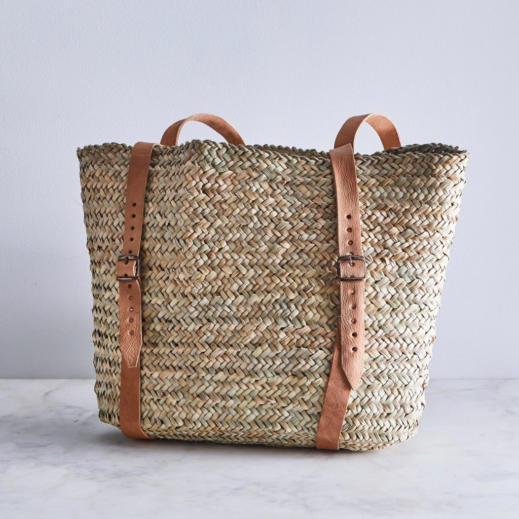 Woven Market Backpack $80