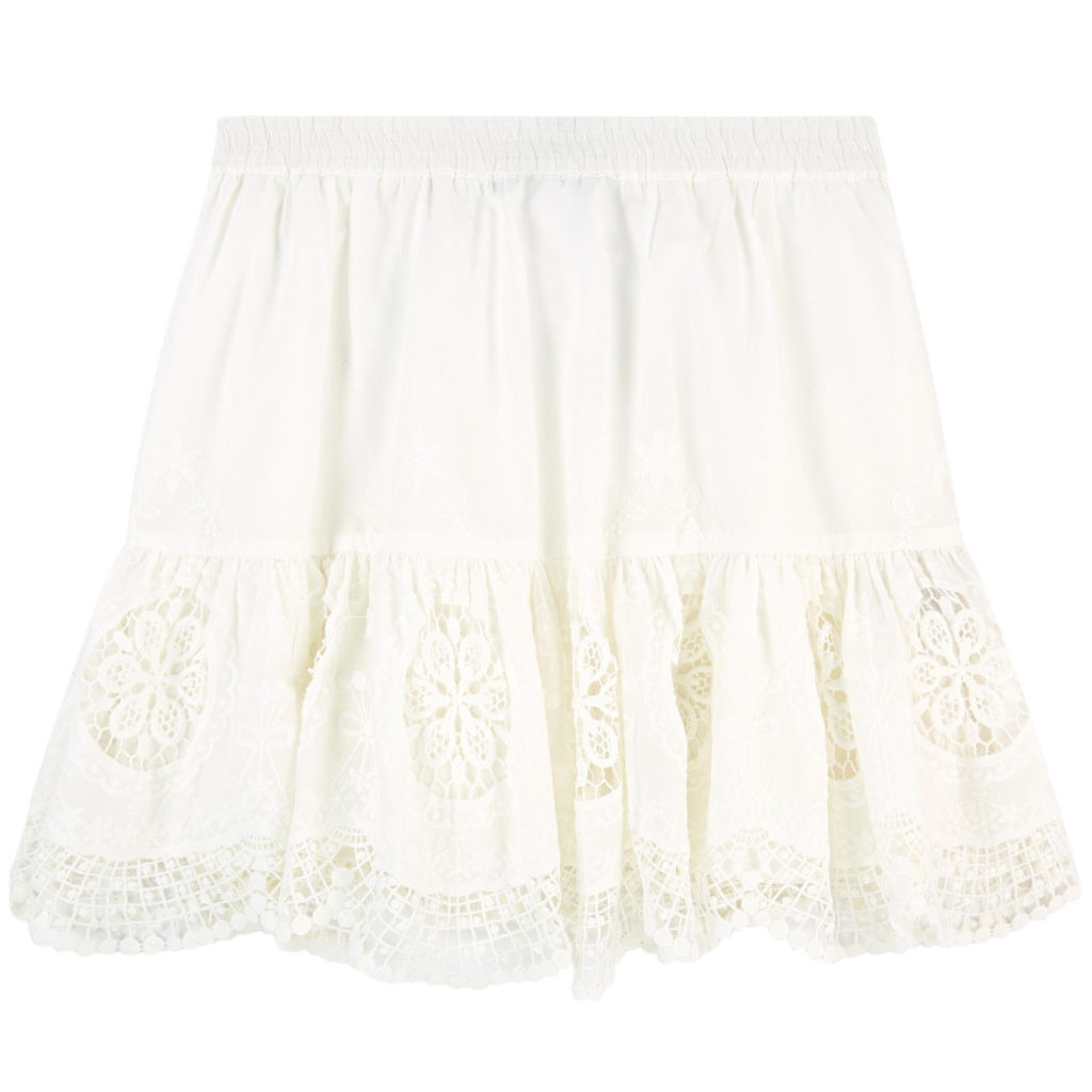 LITTLE REMIX Broderie anglaise lace skirt $150
