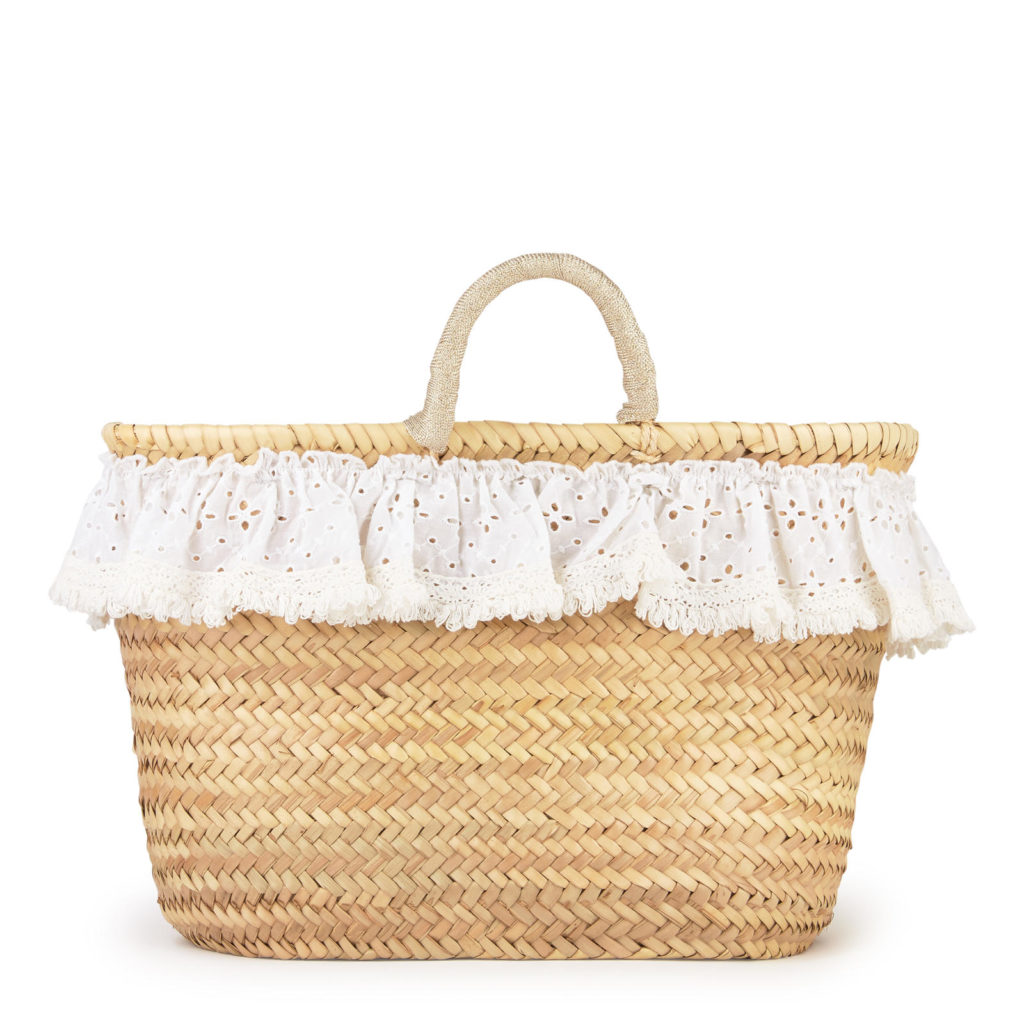 LILI GAUFRETTE Braided basket $77