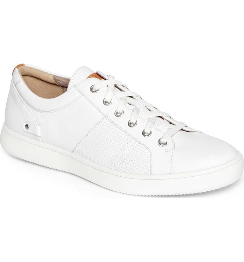 College Textured Sneaker, Main, color, WHITE LEATHER $89.99