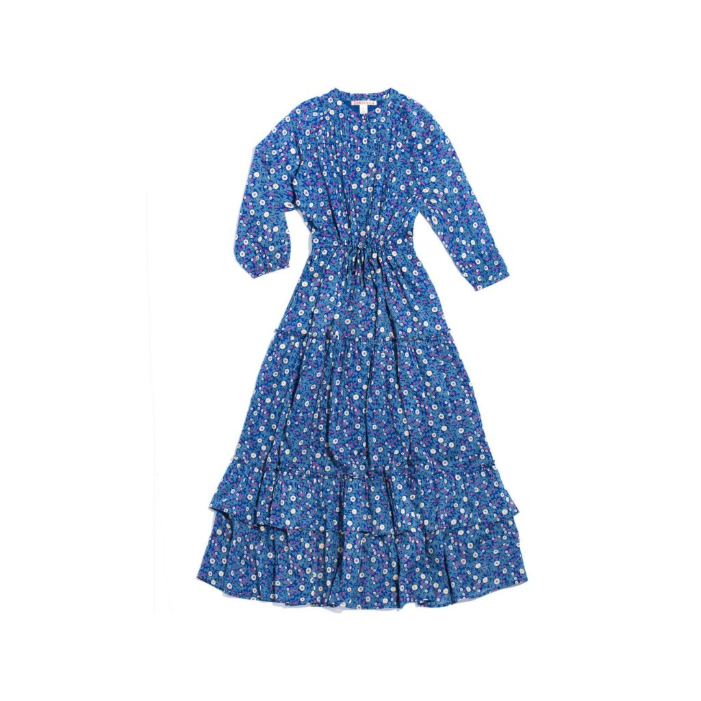 Banjanan Adult Bazaar Dress, Scatter Floral Blueprint $265.00