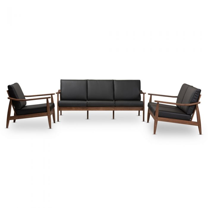 Baxton Studio Black-Walnut-Brown-3PC-Set $1,099.97