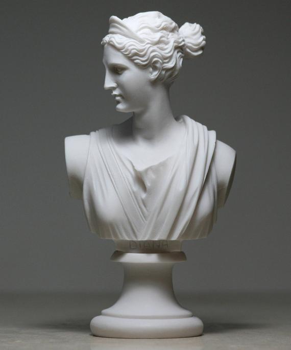 Greek Bust of ARTEMIS DIANA $25.52