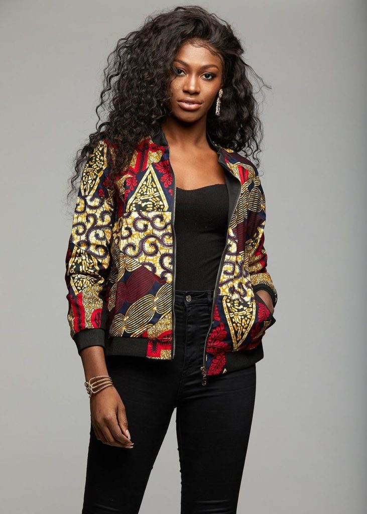 Remi Women's African Print Bomber Jacket  $29.99