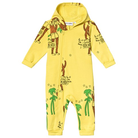 Mini Rodini Yellow Cool Monkey Onesie $89.00