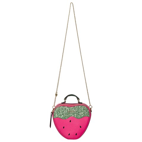Fuchsia Strawberry Glitter Cross Body Bag$41.00