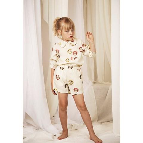Mini Rodini Cream Monkey Shorts  $59.00