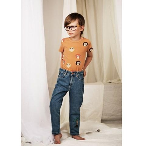 Mini Rodini Brown Monkeys T-Shirt 39.00