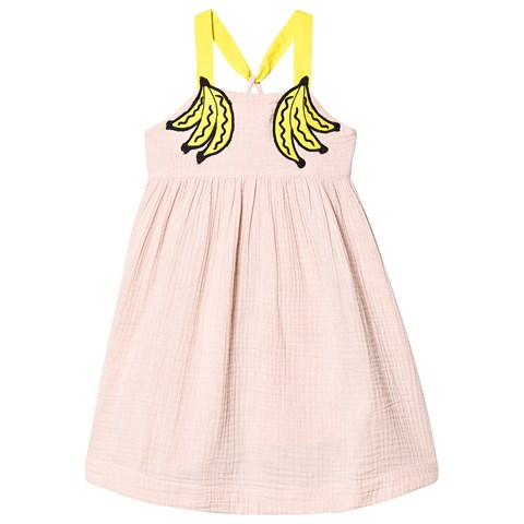 Stella McCartney Kids Pink Embroidered Banana DresS $124.00