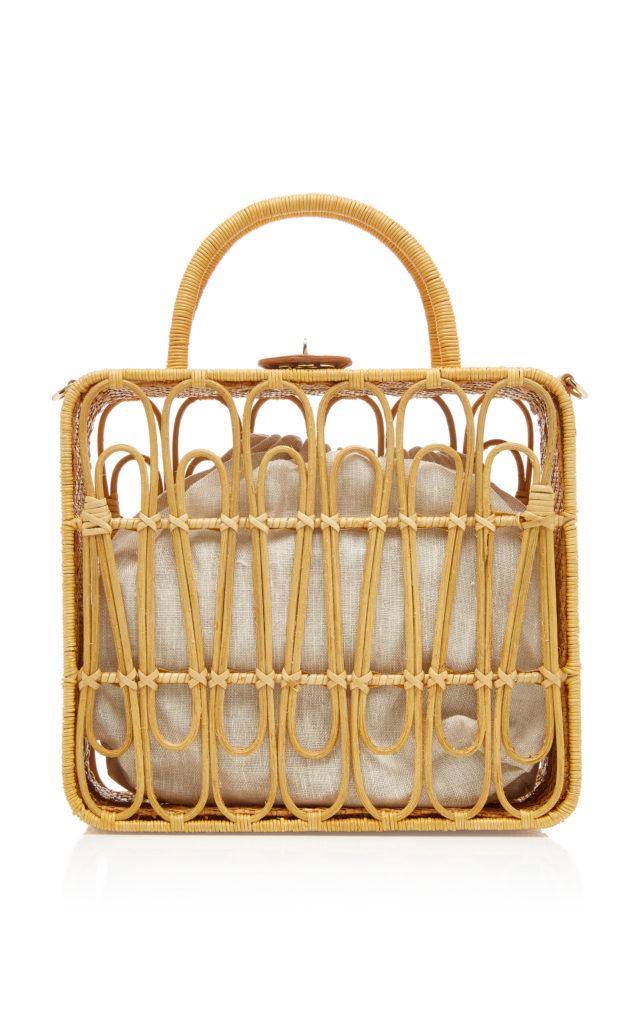 Kayu Safia Rattan Handbag $345.00