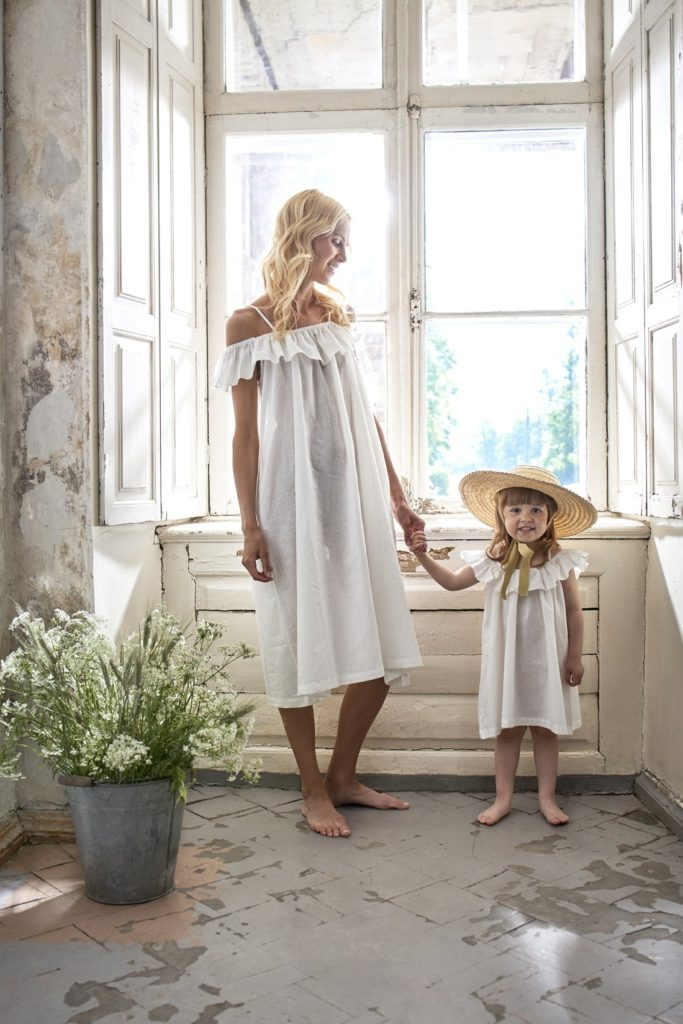Bebe Organic Birgita Dress, Natural White$73.00
