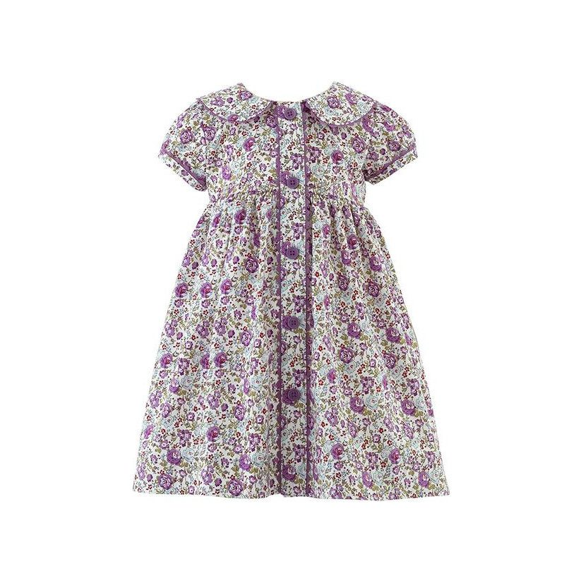 Rachel Riley Lilac Floral Button Front Dress$99.00