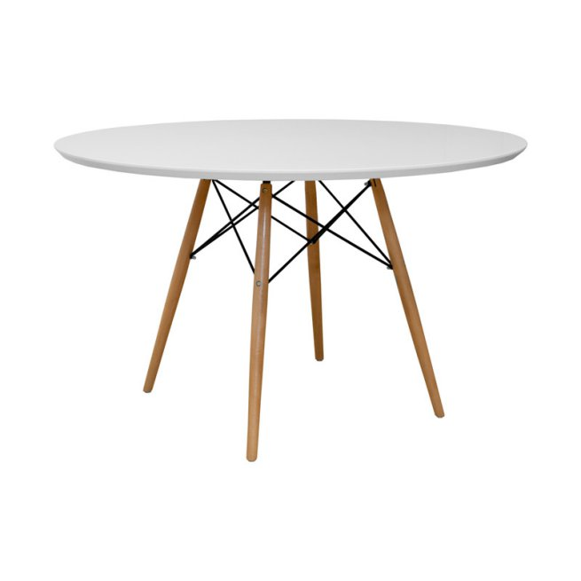 Mod Made Paris Tower Round Table with Wood Legs $352.49