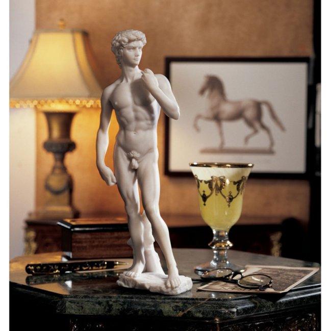 Design Toscano Inc 12H in. David (1504) Bonded Marble Statue $55.95