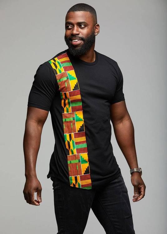SADIK AFRICAN PRINT SHORT SLEEVE T-SHIRT$29.99