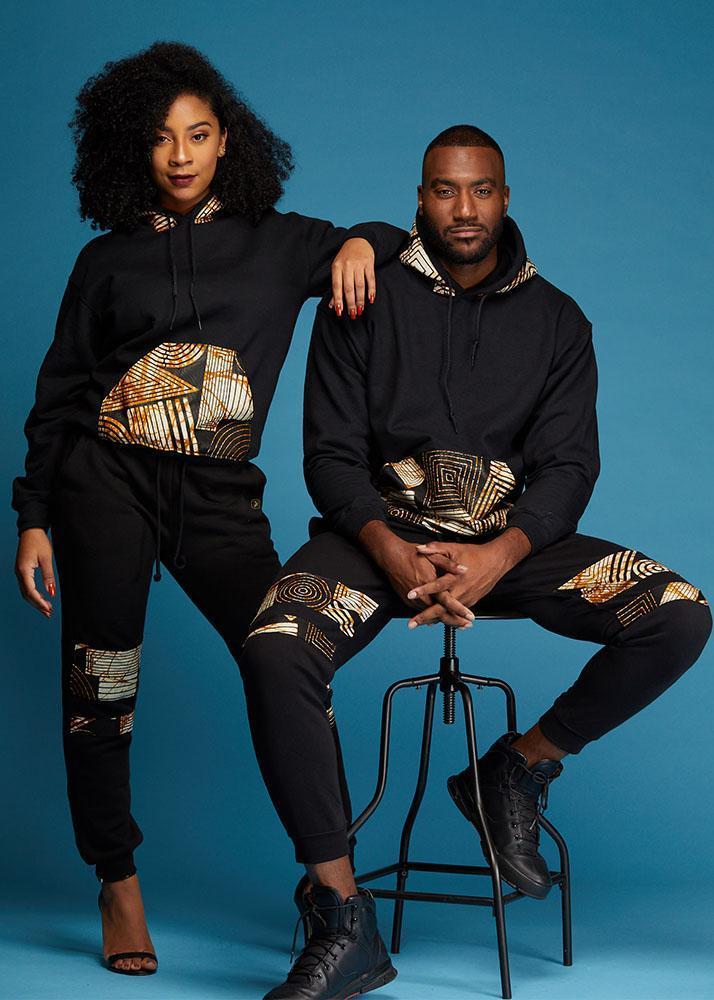 Zane Unisex African Print Hooded Sweatshirt $59.99