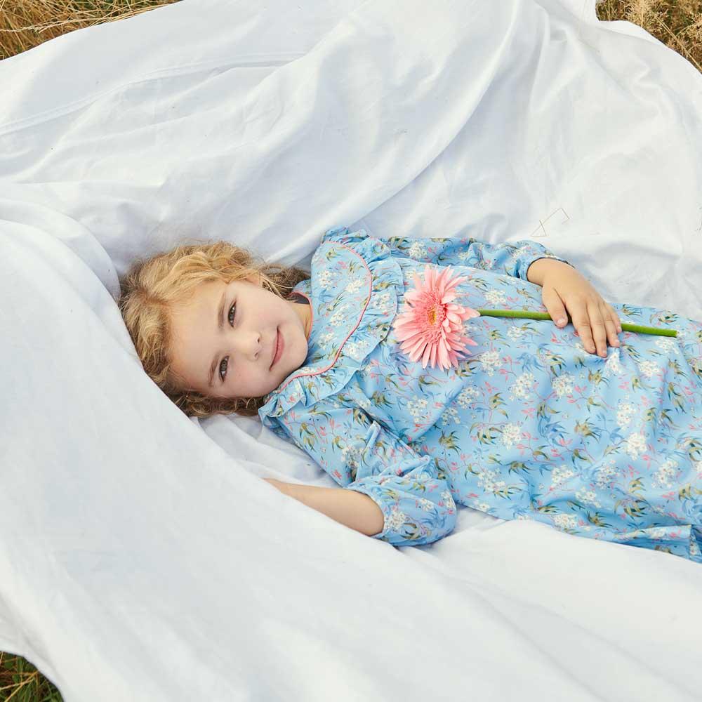 NENUFAR GIRL DRESS Floral Blue $90.39