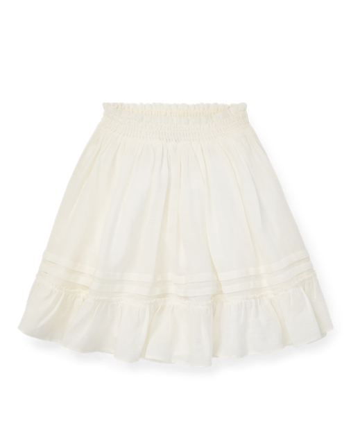 Ruffled Cotton-Blend Skirt $33.99