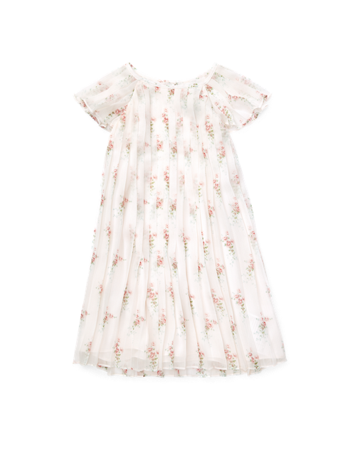 Pleated Floral Crepe Dress $89.50