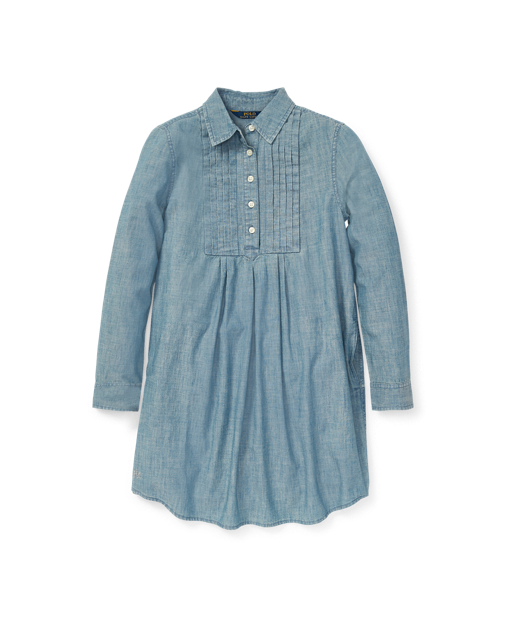 Pleated Chambray Dress $48.99