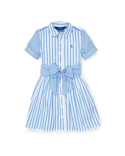 Striped Cotton Shirtdress $55.00