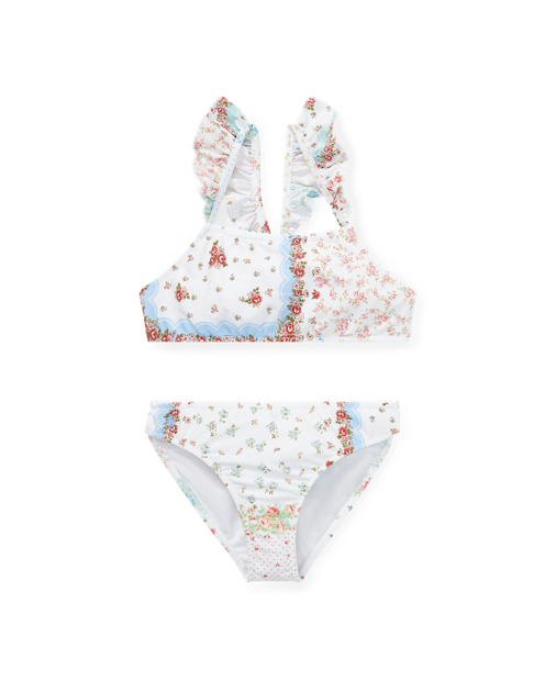 Patchwork Two-Piece Swimsuit $55.00
