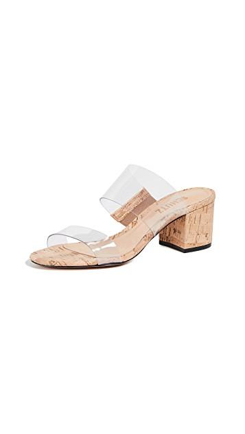 Schutz Victorie Double Strap Vinyl Sandals $170.00