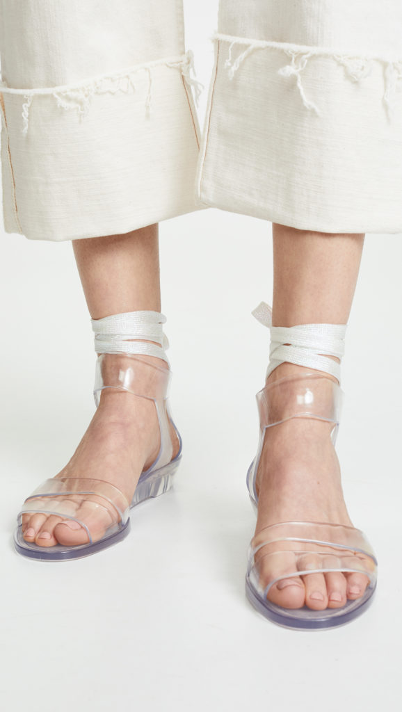 See by Chloe Amy Lace Up Jelly Sandals $125.00