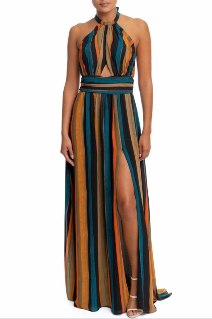 SHIRRED STRIPE MAXI  $39