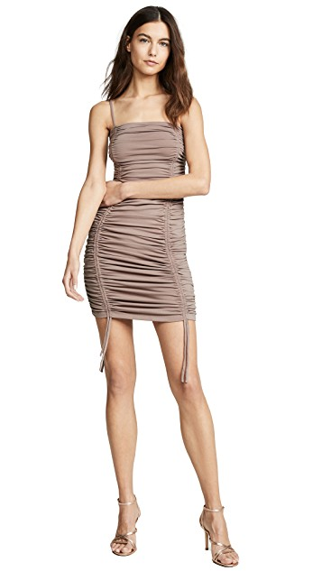 Susana Monaco Ruched Thin Strap Dress $215.00