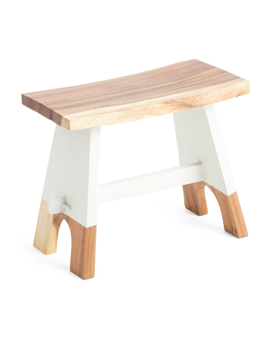 TOUCH OF CLASS Dipped Acacia Wood Step Stool $39.99