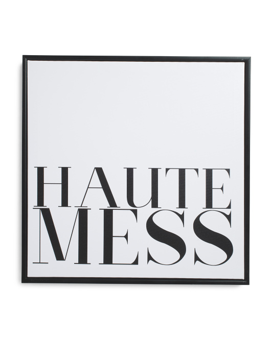 16x16 Haute Mess Framed Canvas Wall Art $16.99
