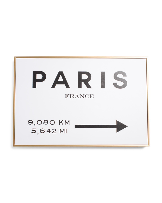OLIVER GAL 24x16 Paris This Way Framed Canvas Wall Art $24.99