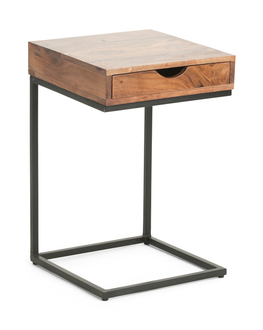 Made In India Acacia Wood C Table $59.99