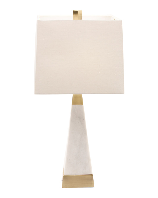 DESTINATIONS BY REGINA ANDREW Pyramid Marble Lamp With Brass $99.99