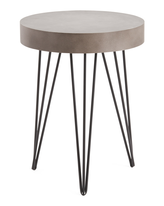 STYLECRAFT Round Wood Table $59.99