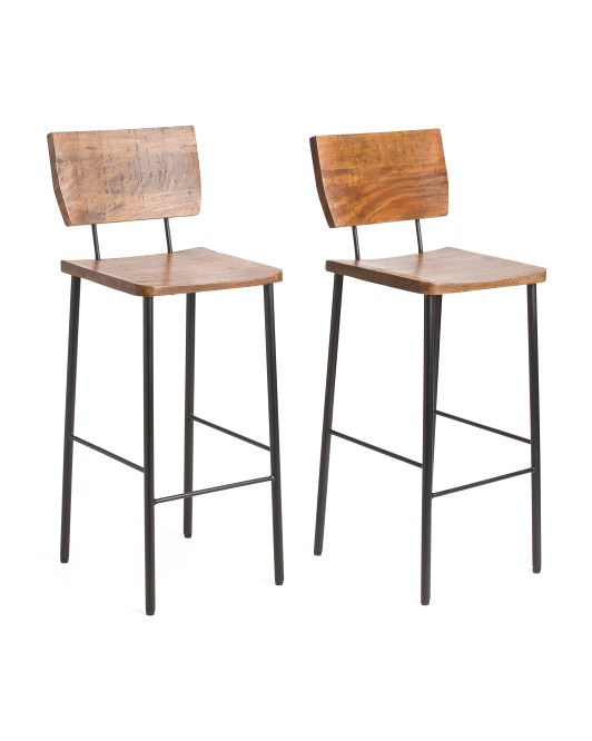 Made In India Set Of 2 Vernal Barstools $199.99