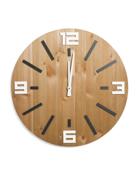 CONCEPTS IN TIME Veneer Dials Wall Clock $24.99