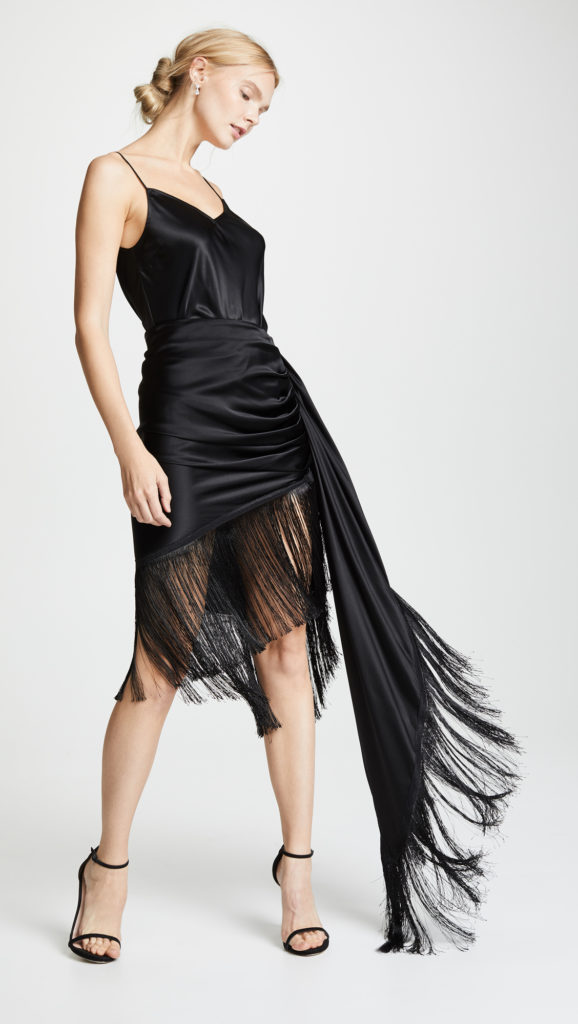 Vatanika Fringe Trim Draped Skirt $187.50