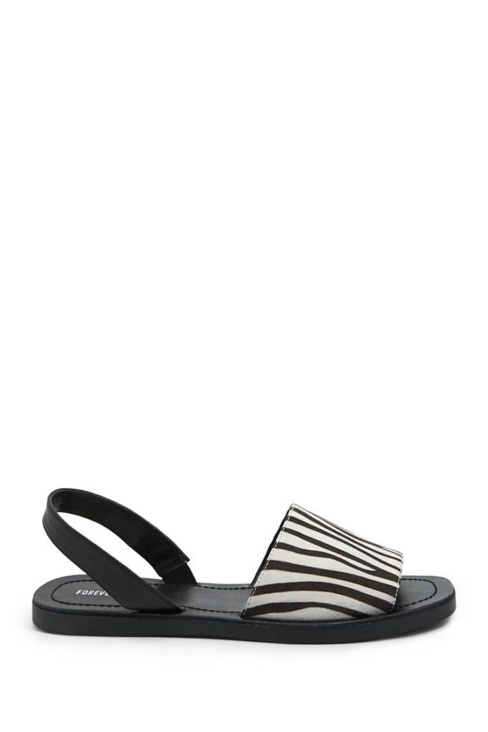 Zebra Print Sandals $19.90